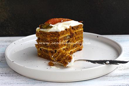 очень вкусный морковный торт