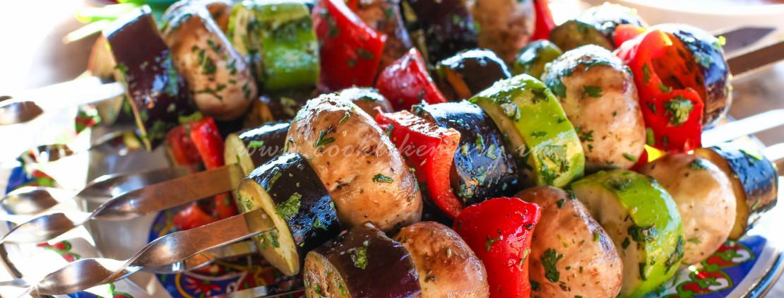 Овощной шашлык на шампурах