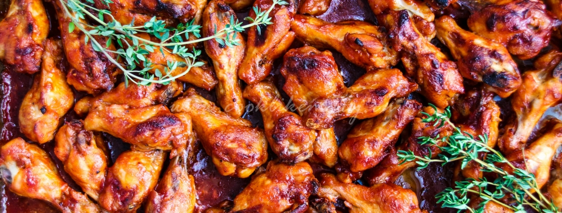 Куриные крылышки в соусе барбекю
