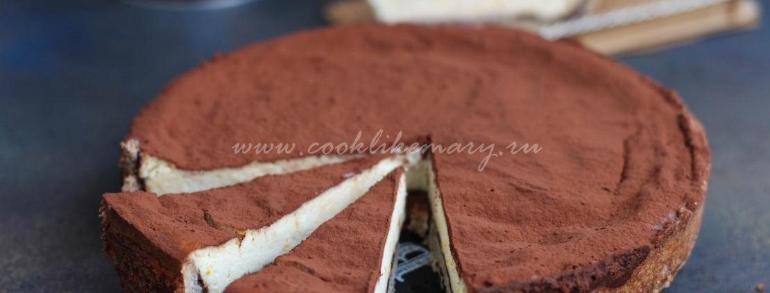 Рецепт пирога с рикоттой и шоколадом