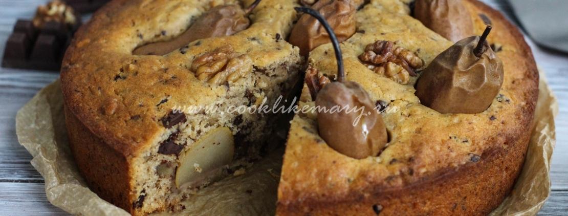 пирог с грушами в духовке