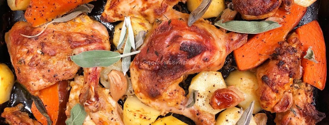 Курица с овощами рецепт