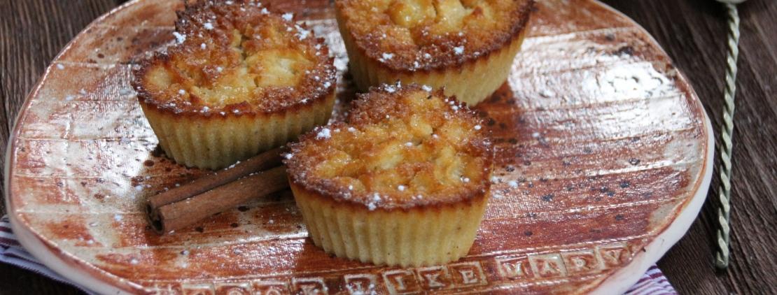 Рецепт маффинов с яблоком и ириской