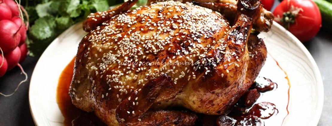 Курица с имбирем в соево-медовом маринаде
