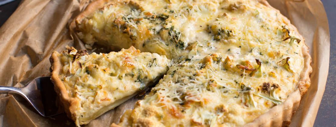 Тарт с цветной капустой и сыром «Грюйер»