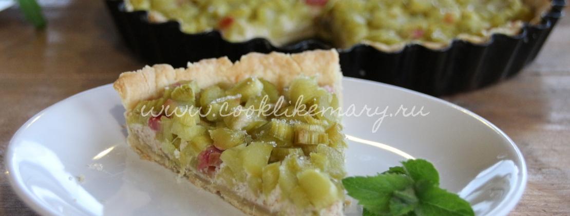 Кусочек пирога с ревенем