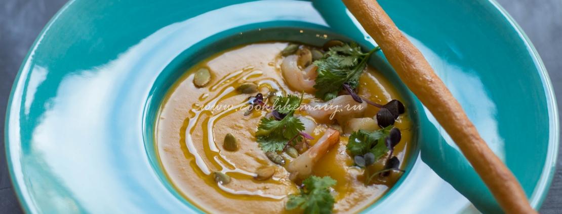 Тыквенный крем-суп с кокосовыми сливками