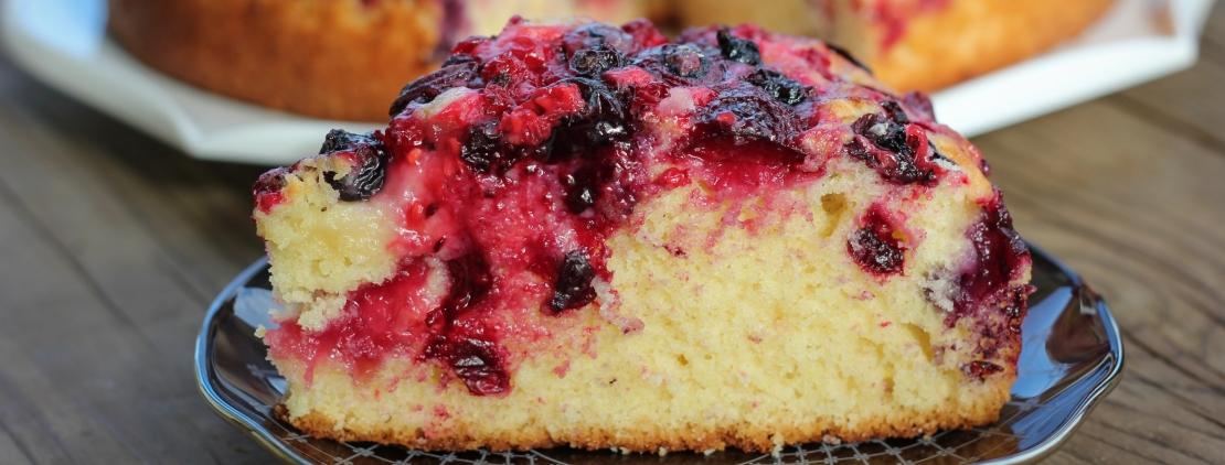 Кусочек ягодного пирога