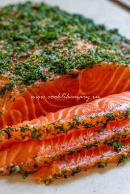 Слабосоленый лосось рецепт