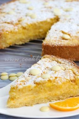 Лимонный пирог со сливками и белым шоколадом