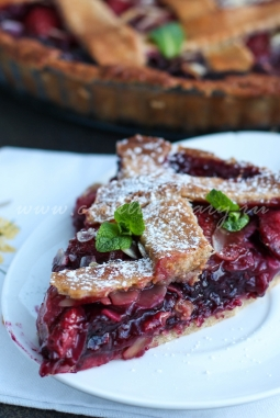 Пирог с ягодами из бездрожжевого теста