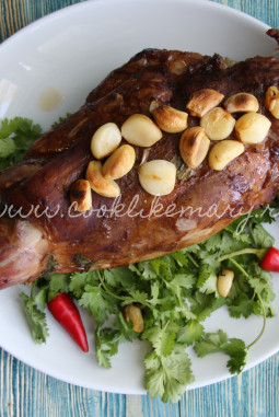 Рецепт бараньей ноги, запечённой в духовке в фольге