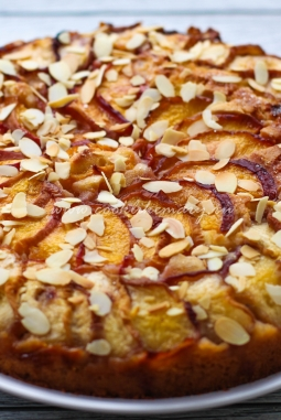 Рецепт пирога со свежими персиками