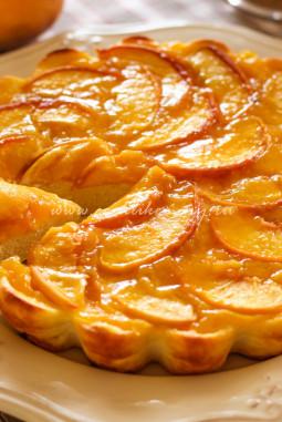 Творожная запеканка с персиками рецепт с фото