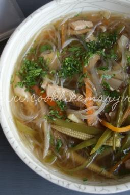 Азиатский суп с курицей