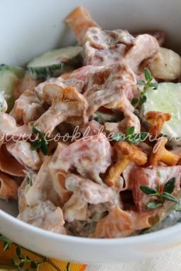 Рецепт салата с грибами и овощами