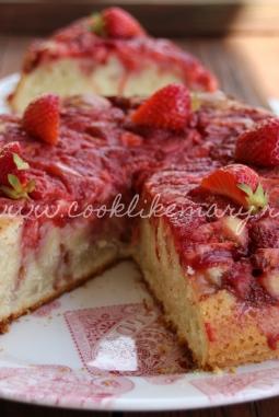 Простой рецепт рецепт клубничного пирога