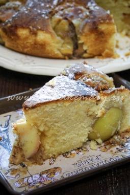 Яблочный пирог с целыми фаршированными яблоками