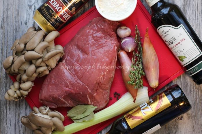 Ингредиенты для говядины в темном пиве