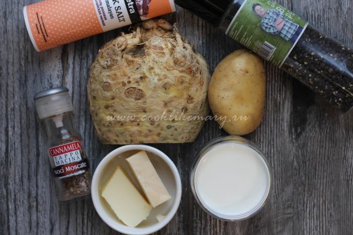 Ингредиенты для сельдереевого пюре