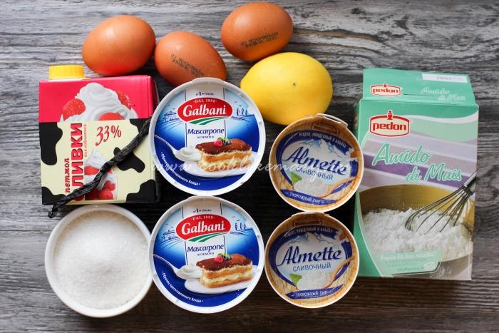 Ингредиенты для творожного чизкейка