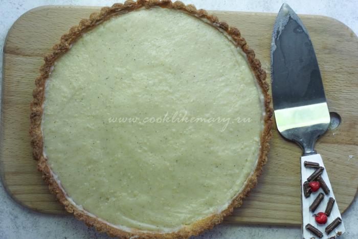 Песочная основа с кремом для тарта