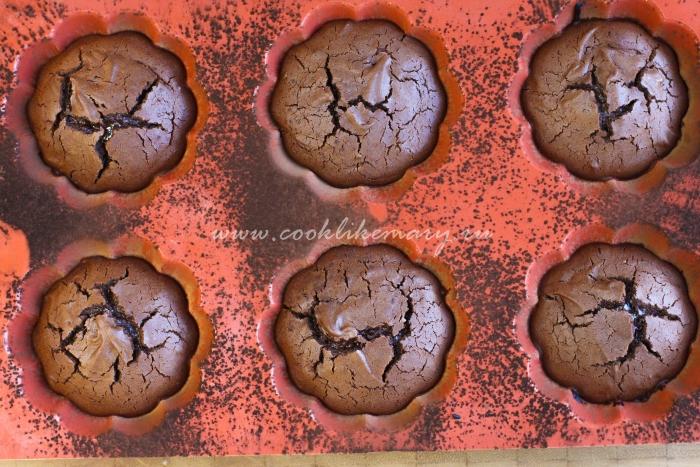 Рецепт шоколадного фондана с жидкой начинкой