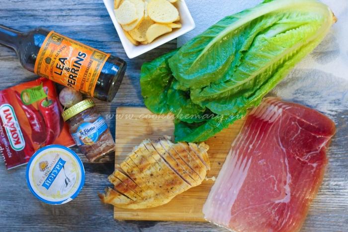Ингредиенты для соуса к Цезарю