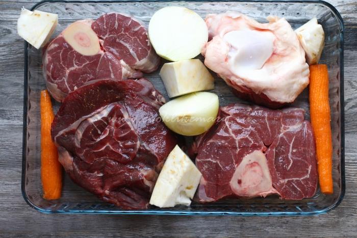 Ингредиенты для холодца из говядины