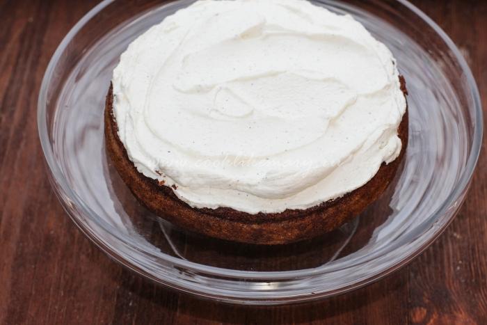 Бисквитный торт с пропиткой и кремом