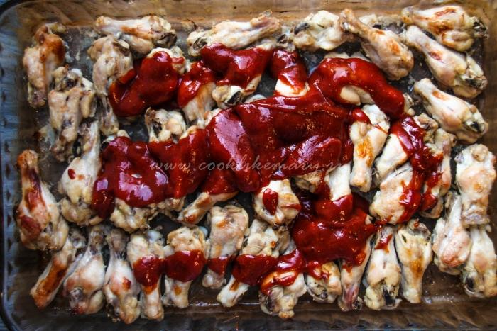 Рецепт куриных крылышек барбекю в духовке