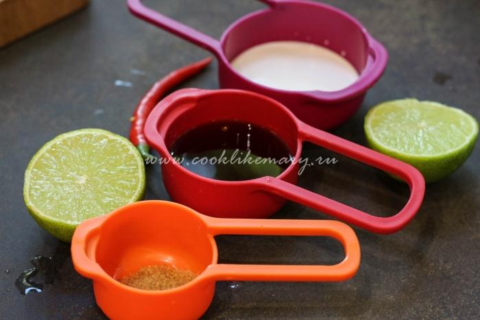 Жидкие ингредиенты для Tom Yum Kung