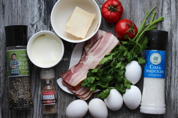 Ингредиенты для начинки Киш Лорен