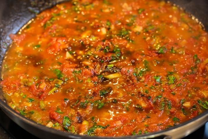 Соус для спагетти с баклажанами