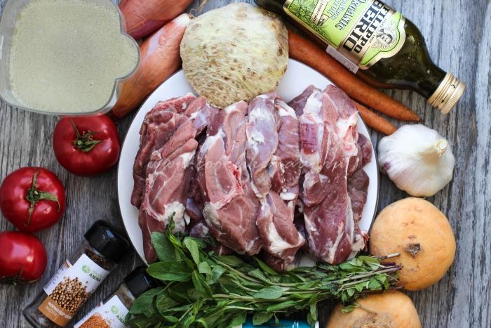 Ингредиенты для баранины с репой
