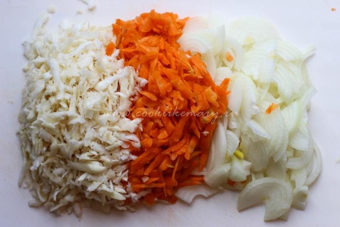 Морковь, сельдерей, лук