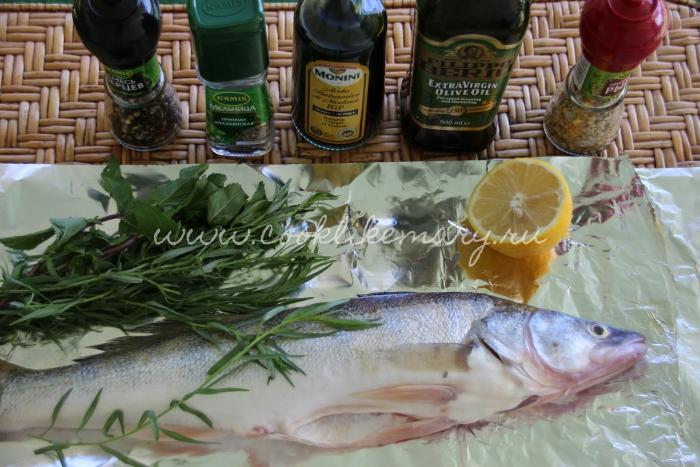 Ингредиенты для пряного судака
