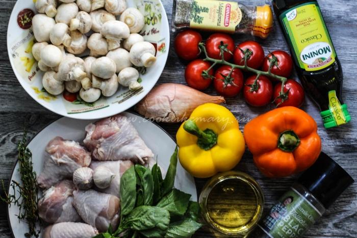 Ингредиенты для курицы Романо