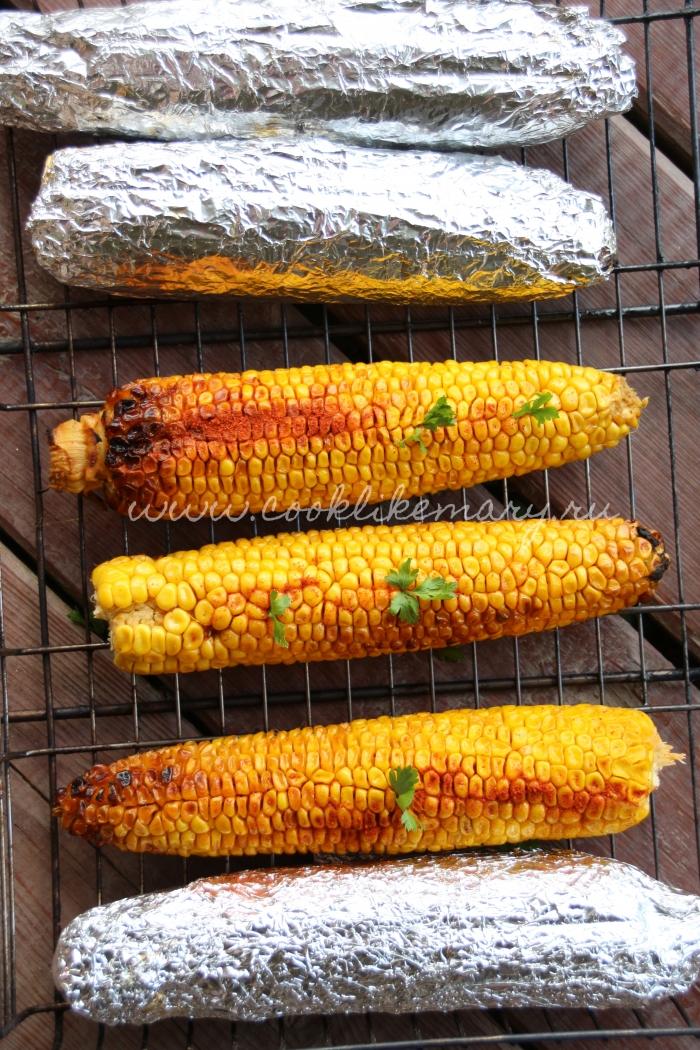 Кукуруза, запечённая в фольге