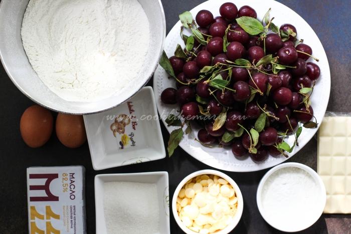 Ингредиенты для вкусного пирога с вишней
