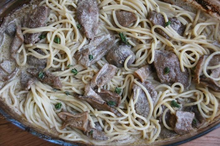 мясо говядины с грибами в духовке