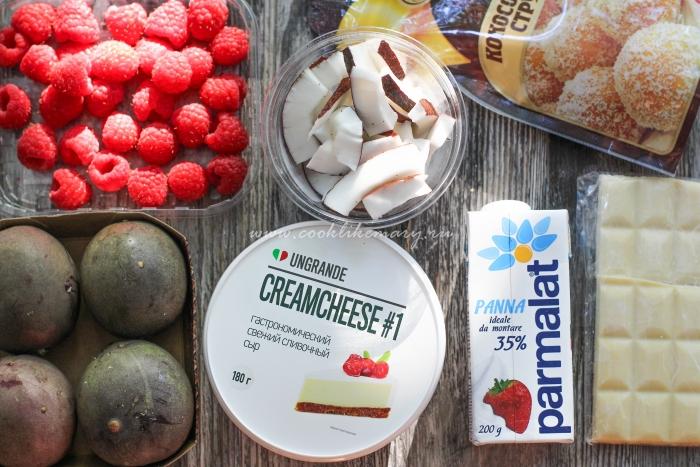 Ингредиенты для кокосового крема