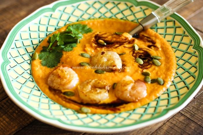 Суп из тыквы с чесноком