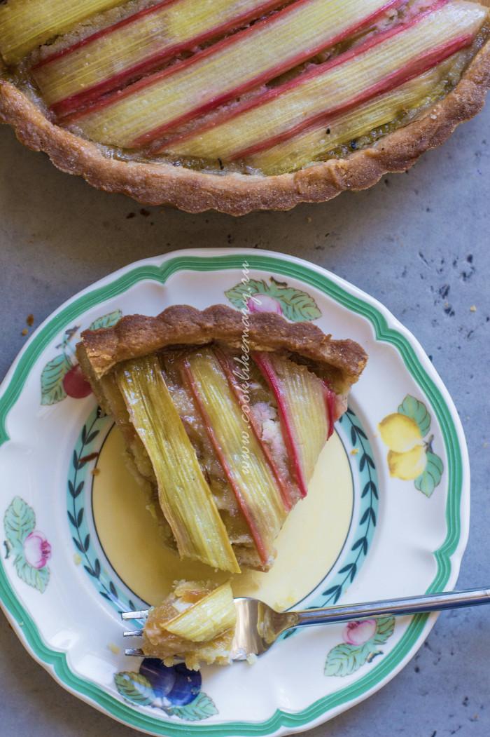 Пирог из ревеня рецепт