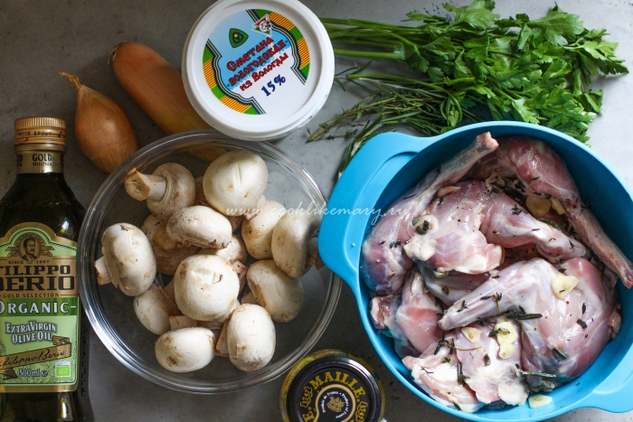 Ингредиенты для приготовления кролика