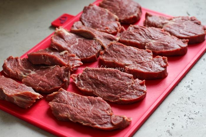Как резать мясо на мясо по-французски