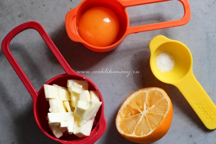 Ингредиенты для голландеза