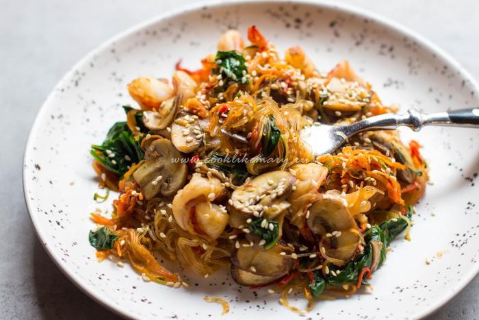 Фунчоза с креветками рецепт