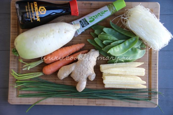 Ингредиенты для азиатского супа