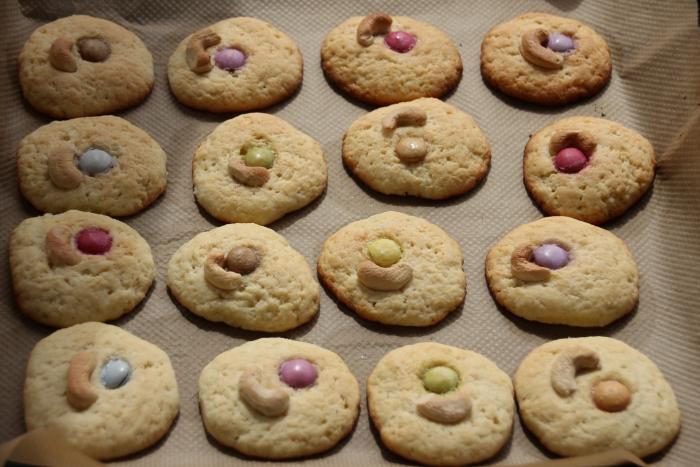 Готовое простое сметанное печенье